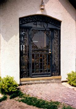 Ornamental Iron Door